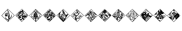 Tiles Font LOWERCASE