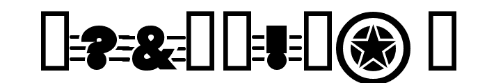 TiltAWhirl Font OTHER CHARS