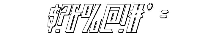 Timberwolf 3D Italic Font OTHER CHARS