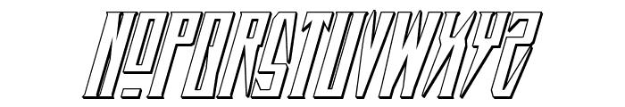 Timberwolf 3D Italic Font UPPERCASE