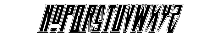 Timberwolf Academy Italic Font UPPERCASE