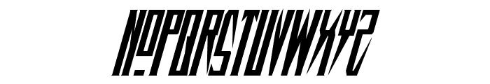 Timberwolf Condensed Italic Font UPPERCASE