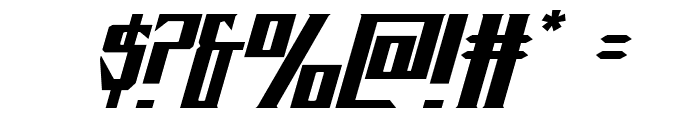 Timberwolf Extra-expanded Italic Font OTHER CHARS
