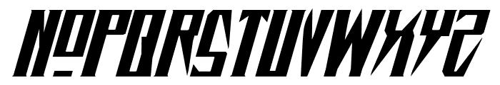 Timberwolf Extra-expanded Italic Font UPPERCASE