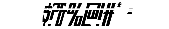 Timberwolf Laser Italic Font OTHER CHARS