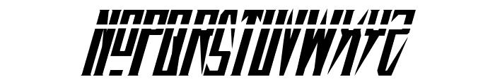 Timberwolf Laser Italic Font UPPERCASE