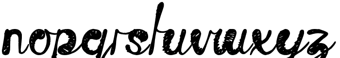 Time Machine Font LOWERCASE