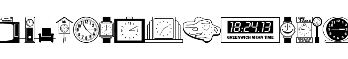 Time Pieces JL Font UPPERCASE