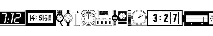 Time Pieces JL Font LOWERCASE