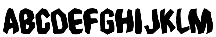 Timebomb Font UPPERCASE