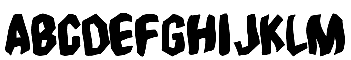 Timebomb Font LOWERCASE