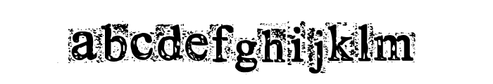 Times New Omen Font LOWERCASE