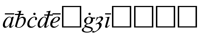 Times Old English Italic Font LOWERCASE