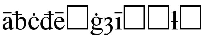 Times Old English Regular Font LOWERCASE