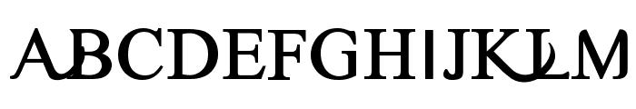 Timoroman Alternative Bold Font UPPERCASE