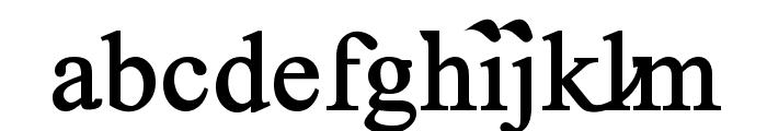 Timoroman Alternative Bold Font LOWERCASE