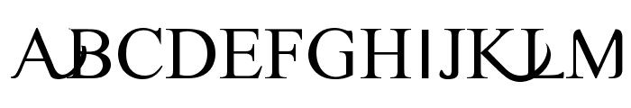Timoroman Alternative Font UPPERCASE
