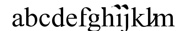 Timoroman Alternative Font LOWERCASE