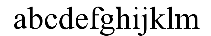 Timoroman Font LOWERCASE