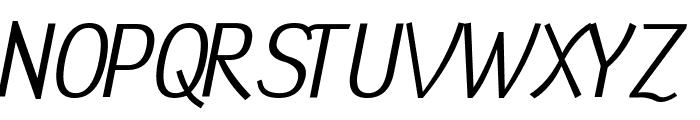 Tin Birdhouse Italic Font UPPERCASE