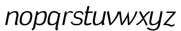 Tin Birdhouse Italic Font LOWERCASE
