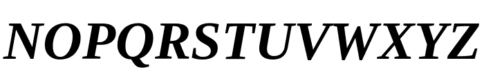Tinos Bold Italic Font UPPERCASE