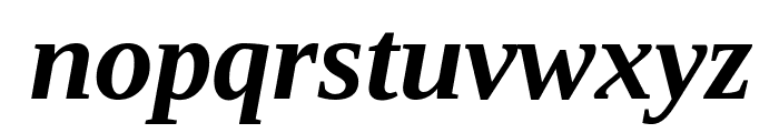 Tinos Bold Italic Font LOWERCASE