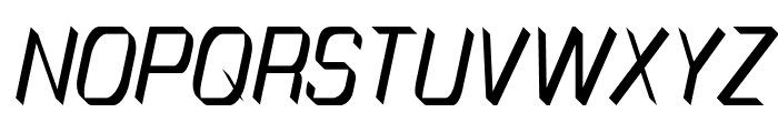 TinyPlate Italic Font UPPERCASE