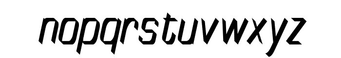 TinyPlate Italic Font LOWERCASE