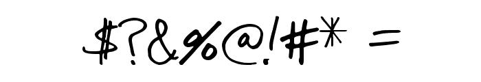Tioem-Handwritten Font OTHER CHARS