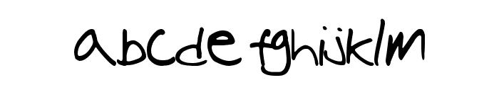 Tioem-Handwritten Font LOWERCASE