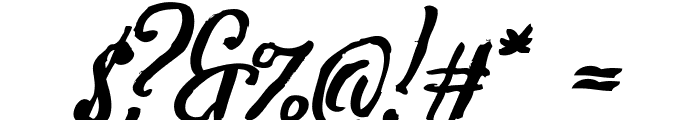 Tipbrush Script 2 Slanted Font OTHER CHARS