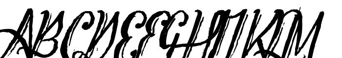 Tipbrush Script 2 Slanted Font UPPERCASE