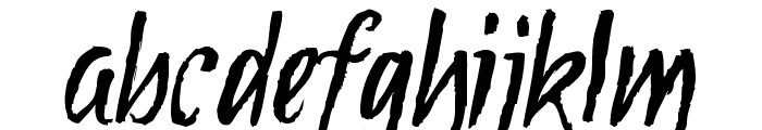 Tipbrush Script Font LOWERCASE
