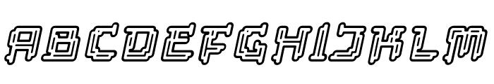 Tipi Slanted Electric Display Font UPPERCASE