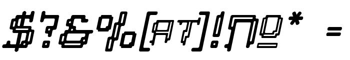 Tipi Slanted Electric Inline Font OTHER CHARS