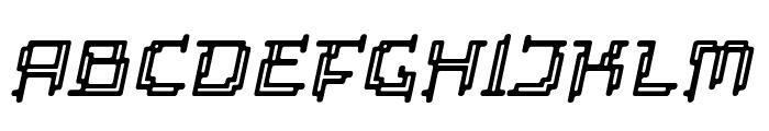 Tipi Slanted Electric Inline Font UPPERCASE