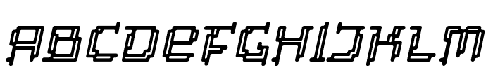 Tipi Slanted Electric Inline Font LOWERCASE