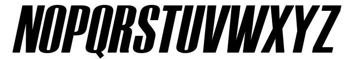 Tipo PRESS Italic Font UPPERCASE