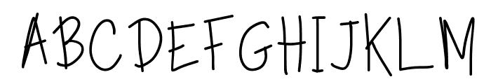 TippyToes Regular Font UPPERCASE