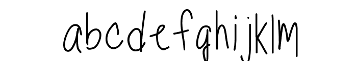 TippyToes Regular Font LOWERCASE