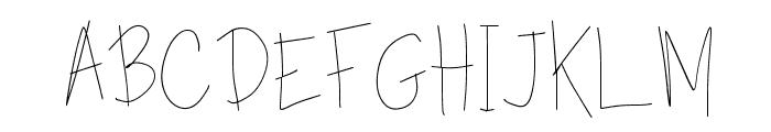 TippyToes Skinny Font UPPERCASE