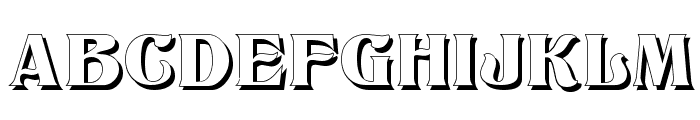 Titania Shadow Font UPPERCASE