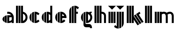 Titanick-Display Font LOWERCASE