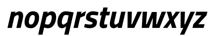 Titillium Web Bold Italic Font LOWERCASE