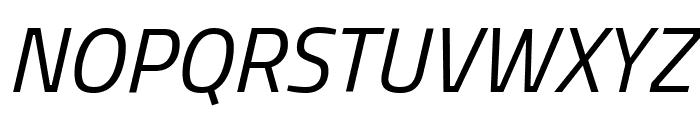 Titillium Web Italic Font UPPERCASE