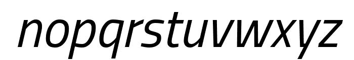 Titillium Web Italic Font LOWERCASE