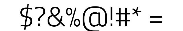 Titillium Web Light Font OTHER CHARS