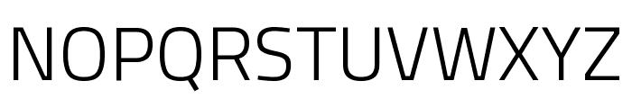 Titillium Web Light Font UPPERCASE