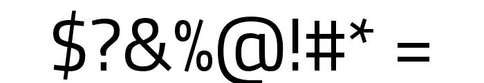 Titillium Web Regular Font OTHER CHARS